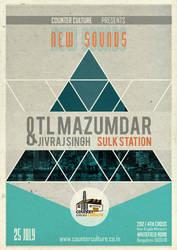TL Mazumdar gig poster by replicant