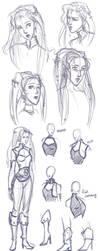 Celes Sketches 1 by zealousceles