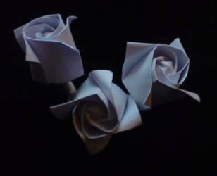 Origami roses by WilliamFDrake