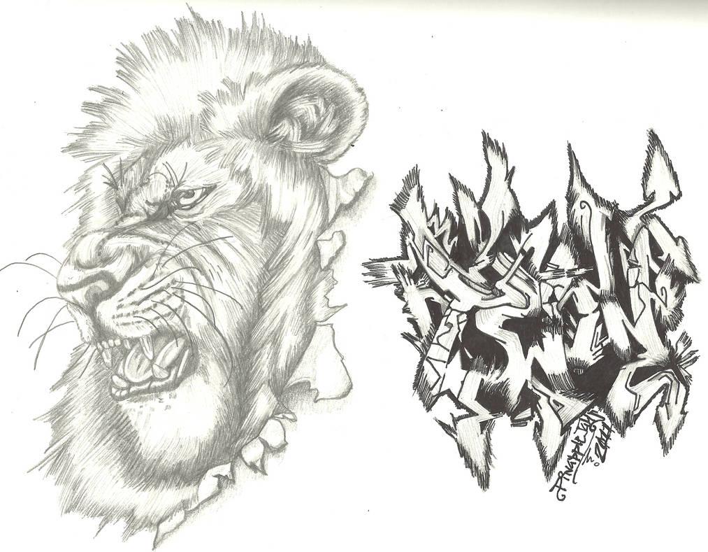Twin Entry 4 Gd Graffiti Lion By Endosian On Deviantart