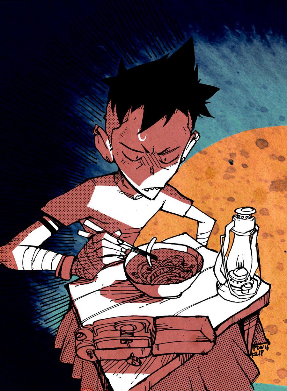Eating Alone by PowFlip