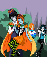 King and Queen of Halloween Town by sparks220stars