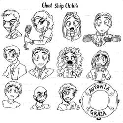 Ghost Ship Chibi's by I-TsarevichAlexei13