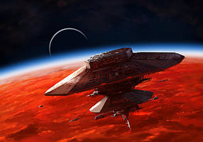 BURNING SUNS - Terran Starbaze by Redan23