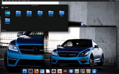 Blue MB Dark KDE -Neon 5.12.3 by CraazyT
