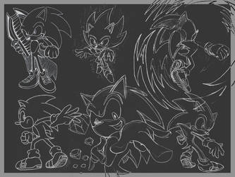 SONIC THE HEDGEHOG by Fission07