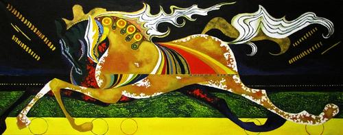 Running horses by Nidra-san