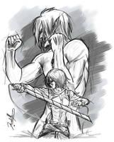 Mikasa n eren by pharoah0000