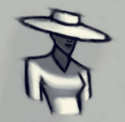 Hat Woman by vroomvro0om