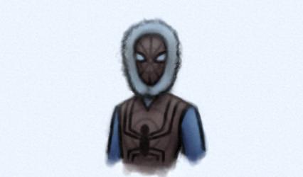 Winter Spider-man by vroomvro0om
