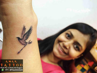 Bird Tattoo by AMARTATTOO