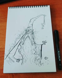 Dumbledore - sketch by Nekr0ns