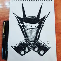 Dark Batman - Sketch by Nekr0ns