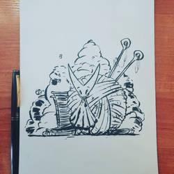 Hollowknight - Hornet sketch by Nekr0ns