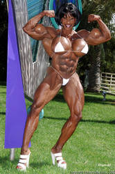 Yvette muscling up by xbgmusf