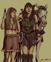 XENA AND GABRIELLE by aquiles-soir