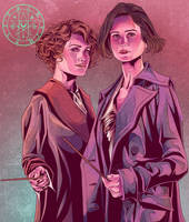 TINA AND QUEENIE GOLDSTEIN by aquiles-soir