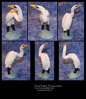 Great Egret - For Grandma by leopardwolf