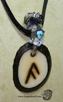 Ansuz Rune Tagua Pendant For Reka by leopardwolf