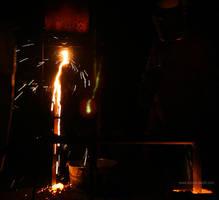Golden Iron - Iron Pour by leopardwolf
