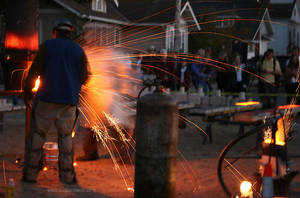 Stoke The Furnace - Iron Pour by leopardwolf