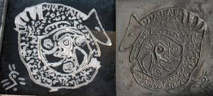 Iron Cast Art -  Lhunie Logo by leopardwolf
