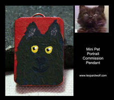 Mojo Pet Pendant for Cheryl by leopardwolf