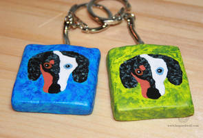 Noodle Keychains - For Cooley by leopardwolf
