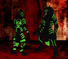 Naughty Spirals by leopardwolf