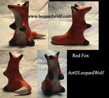 Red Fox sculpt by leopardwolf