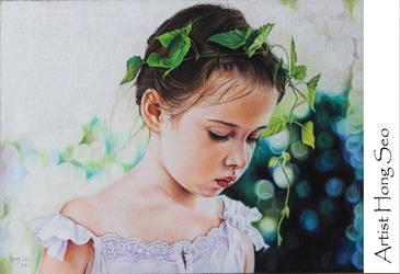 girl portrait by Hongmin