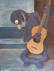 Grover with Guitar by nismo4banger