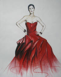 Fashion illustration-(student work) by NevartSanat