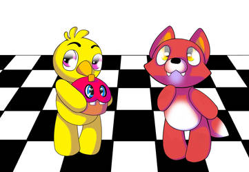 Fnaf plushies by littlefoxling101