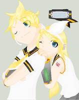 Kagamine twins by Inner-Kunoichi
