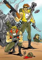 Marco and Tarma from Metal Slug by violencejack666