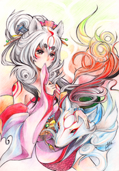 Okami Amaterasu by Princess--Ailish