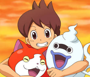 Best Yokai Friends Forever by nyarths3