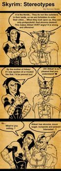 Skyrim Stereotypes by SlayerSyrena