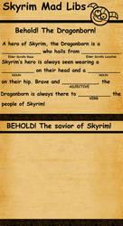 Skyrim Mad Libs by SlayerSyrena