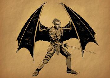 Tarveth the Dragonknight by SlayerSyrena