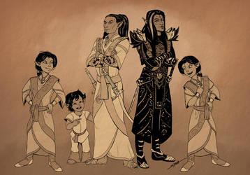 Vytalas And Sarethi Family by SlayerSyrena