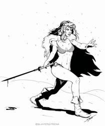 Red Sonja by SlayerSyrena
