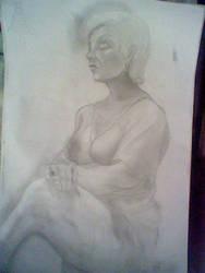 Old Lady- Drawing Class by NanamiDarkfox