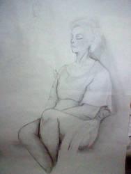 Old Lady- Drawing Class3 by NanamiDarkfox