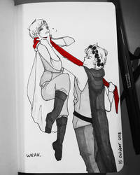 Inktober Day 15 - Weak by Erulastiel