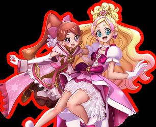Cure Flora and Princess Refi by Fu-reiji