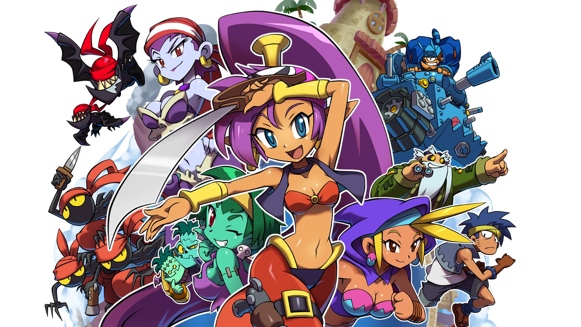 Shantae and the Pirate's curse wallpaper 1 by Fu-reiji