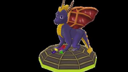 Spyro Redesign(2017) by fagonstar