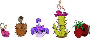 Some MORE Primal Fan Plants by DevianJp824